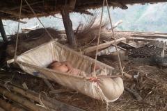 Child during earthquake at Bahunidanda