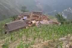 Earthquake destroyed a settlement of Bahunidanda