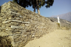 Bigu_Gaurishankar School _compound wall construction